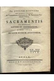 De Sacramentis in genere baptismo et confirmationw - Régikönyvek