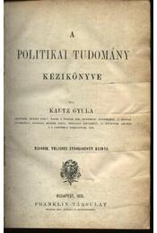 A politikai tudomány kézikönyve - Régikönyvek