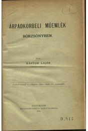 Árpádkorbeli műemlék börzsönyben - Régikönyvek