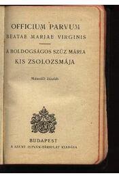 Officium Parvum - Régikönyvek