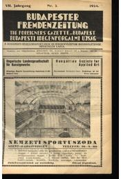 Budapesti Idegenforgalmi Újság, The forigners' gazette of Budapest, Budapester Fremdenzeitung 1934. Nr. 4. - Régikönyvek