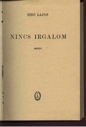 Nincs irgalom - Régikönyvek