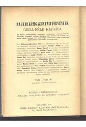Községi bíráskodás - Régikönyvek