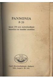 Pannonia P-20 - Régikönyvek