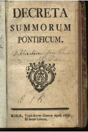 Decreta summorum pontificum - Régikönyvek
