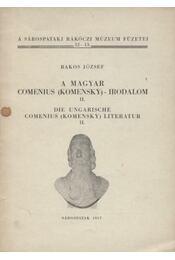 A magyar Comenius (Komensky)-irodalom - Régikönyvek