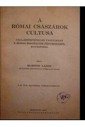 A római császárok cultusa - Régikönyvek