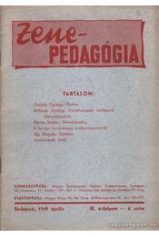 Zenepedagógia 1949. III. évf. 4. szám - Czövek Erna - Régikönyvek