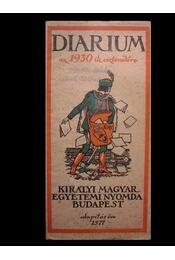 Diarium az 1930-ik esztendőre - Régikönyvek
