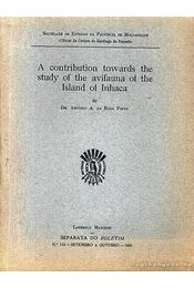 A contribution towards the study of the avifauna of the Island of Inhaca - Dr. António A. da Rosa Pinto - Régikönyvek