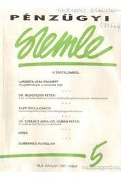 Pénzügyi szemle XLII. évfolyam 1997. május - Dr. Szamek Tamás (főszerk.) - Régikönyvek