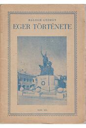 Eger története - Régikönyvek