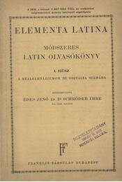Elementa Latina - Régikönyvek