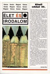 Első oldal III. - Kovács Zoltán, Megyesi Gusztáv, Váncsa István - Régikönyvek