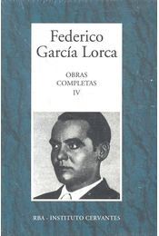 Obras Completas #4 - Federico Garcia Lorca - Régikönyvek
