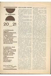 Új Symposion 1967/20-21. szám - Fehér Kálmán - Régikönyvek