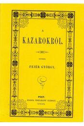 A kazarokról - Fejér György - Régikönyvek