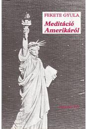 Meditáció Amerikáról - Fekete Gyula - Régikönyvek
