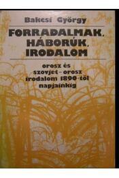 Forradalmak, háborúk, irodalom - Régikönyvek