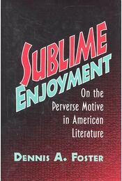 Sublime Enjoyment - On the Perverse Motive in American Literature - FOSTER, DENNIS A, - Régikönyvek
