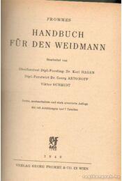 Handbuch für den Weidmann - Fromme, Georg - Régikönyvek