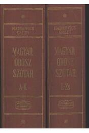 Magyar-orosz szótár I-II. kötet - Régikönyvek