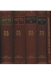 Hütte Des Ingenieurs Taschenguch I-V - Régikönyvek