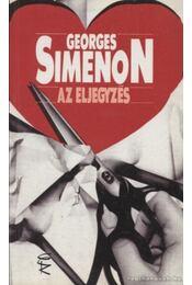 Az eljegyzés - Georges Simenon - Régikönyvek