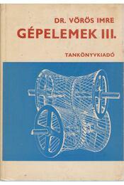 Gépelemek III. - Régikönyvek