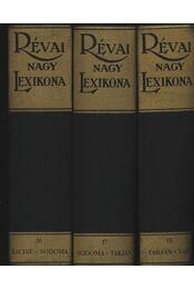 Révai Nagy Lexikona A-Z, 1-21 kötet (hasonmás kiadás) - Régikönyvek