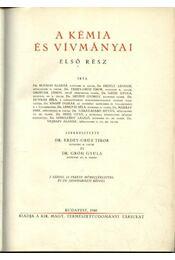 A kémia és vívmányai I-II. (A természet világa V-VI.) - Gróh Gyula, Erdei-Grúz Tibor - Régikönyvek