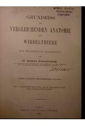 Grundriss der vergleichenden anatomie der Wirbelthiere für studierende bearbeitet - Régikönyvek