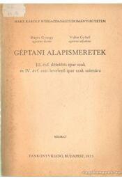 Géptani alapismeretek - Hajós György, Vidor Győző - Régikönyvek