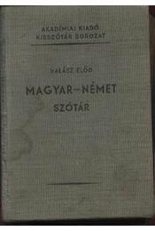 Magyar-német szótár - Halász Előd - Régikönyvek