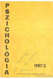 Pszichológia 1987/3 - Halász László, Pataki Ferenc - Régikönyvek