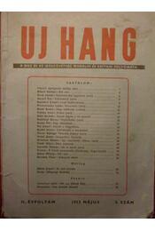 Uj Hang II. évf. 5. szám - Régikönyvek