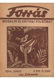 Forrás 1944. junius II. évfolyam 6. szám - Hankiss János - Régikönyvek