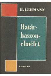 Határhaszon-elmélet - Régikönyvek