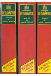 Házi olvasmányok-Kötelező és ajánlott irodalom - Régikönyvek