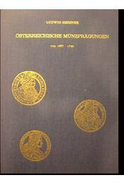 Österreichische münzpragungen von 1657-1740 - Régikönyvek