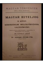 Magyar hiteljog II. kötet - Régikönyvek