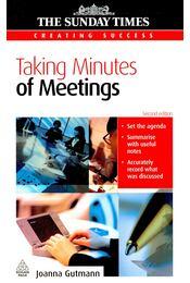 Taking Minutes of Meetings - Régikönyvek