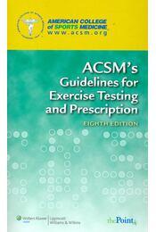 ACSM's Guidelines for Exercise Testing and Prescription - Régikönyvek