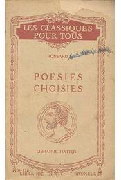 Poésies choisies - Régikönyvek