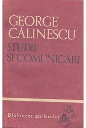Studii şi comunicări - Calinescu, George - Régikönyvek