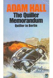 The Quiller Memorandum - Hall, Adam - Régikönyvek