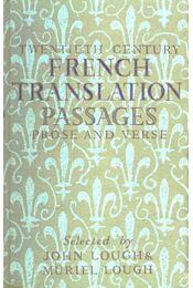 Twentieth Century French Translation Passages - Prose and Verse - Régikönyvek
