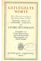 Geflügelte Worte - Régikönyvek