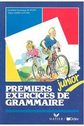 Premiers exercices de grammaire – junior - Régikönyvek