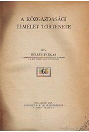 A közgazdasági elmélet története - Régikönyvek